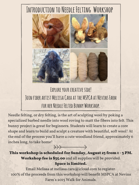 Introduction to Needle Felting  Workshop